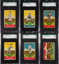 Baseball Cards:Lots, 1933 Delong Gum Baseball HoFers SGC Graded Collection (6). ...