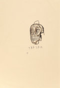 Post-War & Contemporary:Contemporary, JEAN-MICHEL BASQUIAT (American, 1960-1988). Tartar, circa1982. Oilstick on paper. 29-1/4 x 20-3/8 inches (74.3 x 51.8 c...