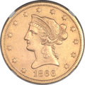 Liberty Eagles, 1866-S $10 Motto -- Improperly Cleaned -- NGC Details. AU....