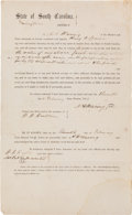 Miscellaneous:Ephemera, [Slavery]. Legal Document Regarding the Payment to a Slave Ownerfor the Death of his Slave in the Service of the Confederacy....