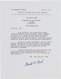 Autographs:U.S. Presidents, Gerald R. Ford Document Signed....