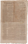 Miscellaneous:Newspaper, [1796 Presidential Election]. Newspaper: ConnecticutGazette....