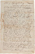 Autographs:Statesmen, [Revolutionary War Soldier's Wife]. Eunice Rebeckah Eaton AutographPetition Signed....
