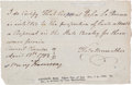 Autographs:U.S. Presidents, Benjamin Harrison Document Signed....