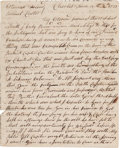 Autographs:Military Figures, [Tea Act of 1773]. John James Autograph Letter Signed...