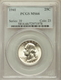 Washington Quarters: , 1941 25C MS66 PCGS. PCGS Population (1057/86). NGC Census:(561/198). Mintage: 79,047,288. Numismedia Wsl. Price for proble...