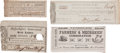 Miscellaneous:Ephemera, Group of Four Early American Lottery Tickets... (Total: 4 Items)