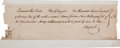 Autographs:Military Figures, [Thomas Lynch, Jr.] Thomas Lynch, Sr. Document Signed....