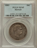 Coins of Hawaii: , 1883 50C Hawaii Half Dollar XF45 PCGS. PCGS Population (79/425).NGC Census: (43/314). Mintage: 700,000. ...