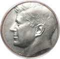 Errors, Undated 50C Uniface Kennedy Half -- Struck on a Clad Dime Planchet-- MS63 PCGS....