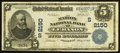 National Bank Notes:Kentucky, Lebanon, KY - $5 1902 Date Back Fr. 597 The Marion NB Ch. #(S)2150. ...