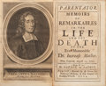 Books:Biography & Memoir, [Increase Mather, subject]. Cotton Mather. Parentator.Memoirs of Remarkables in the Life and the Death of the Eve...