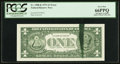 Error Notes:Ink Smears, Fr. 1908-K $1 1974 Federal Reserve Note. PCGS Gem New 66PPQ.. ...