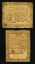 Colonial Notes:Pennsylvania, Pennsylvania April 3, 1772 2s 6d VG. Pennsylvania October 1, 177320s VF.. ... (Total: 2 notes)
