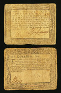 Colonial Notes:Maryland, Maryland December 7, 1775 $6 VG. Maryland August 14, 1776 $1 1/3VG.. ... (Total: 2 notes)