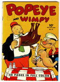 Golden Age (1938-1955):Cartoon Character, Four Color #17 Popeye (Dell, 1942) Condition: GD+ Off-white towhite pages....