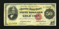 Large Size:Gold Certificates, Fr. 1195 $50 1882 Gold Certificate Fine....