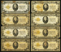 Small Size:Gold Certificates, Fr. 2402 $20 1928 Gold Certificates. Eight Examples. Very Good or Better.. ... (Total: 8 notes)
