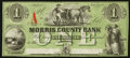 Obsoletes By State:New Jersey, Morristown, NJ- Morris County Bank $1 18__. ...