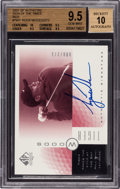 Golf Cards:General, 2001 SP Authentic Sign of The Times Red Tiger Woods #TW1 BGS 9.5, Beckett 10 Autograph #66/273...