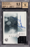 Golf Cards:General, 2001 SP Authentic Sign of The Times Tiger Woods #TW BGS Gem Mint 9.5, Beckett 10 Autograph. ...