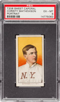 Baseball Cards:Singles (Pre-1930), 1909-11 T206 Sweet Caporal Christy Mathewson, Portrait PSA EX-MT 6....
