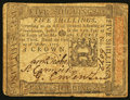 Colonial Notes:Pennsylvania, Pennsylvania October 1, 1773 5s Extremely Fine.. ...