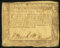 Colonial Notes:Maryland, Maryland August 14, 1776 $2 Fine-Very Fine.. ...
