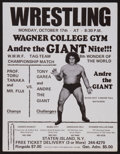 Miscellaneous Collectibles:General, 1970's Andre the Giant World Wide Wrestling Federation Poster....