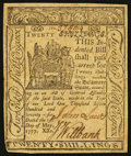 Colonial Notes:Delaware, Delaware May 1, 1777 20s Very Fine+.. ...