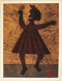 RUFINO TAMAYO (Mexican, 1899-1991) Nina, 1981 Mixografia in colors on handmade paper 36-1/2 x 27