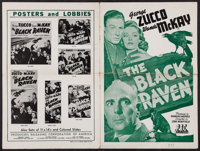"The Black Raven & Other Lot (PRC, 1943). Uncut Pressbooks (2) (Multiple Pages, 12"" X 18""). Mystery..."