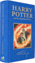 Books:Children's Books, J. K. Rowling. Harry Potter and the Half-Blood Prince.London: Bloomsbury, [2005]. First Deluxe edition. Signed by...