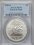 Modern Issues: , 1995-D $1 Olympic/Track & Field Silver Dollar MS70 PCGS. PCGSPopulation (154). NGC Census: (230). Numismedia Wsl. Price f...