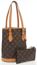 Luxury Accessories:Bags, Louis Vuitton Classic Monogram Canvas Petit Bucket Shoulder Bag.... (Total: 2 )