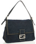 Luxury Accessories:Bags, Fendi Denim Mama Baguette Bag. ...