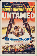 "Movie Posters:Adventure, Untamed (20th Century Fox, 1955). One Sheet (27"" X 41""), and LobbyCards (4) (11"" X 14""). Adventure.. ... (Total: 5 Items)"