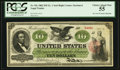 Large Size:Legal Tender Notes, Fr. 93c $10 1862 Legal Tender PCGS Choice About New 55.. ...
