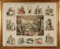 Art:Illustration Art - Mainstream, [Engraving]. The Bookbinder's Shop: Sketched From the Establishmentof Mess. Westleys & Clark. Published by the American Sun...