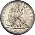 Seated Half Dollars, 1839 50C No Drapery AU55 PCGS....