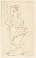 Texas:Early Texas Art - Modernists, DICKSON REEDER (American, 1912-1970). Le Pendu, 1937.Etching with drypoint. 10-1/2 x 6-3/4 inches (26.7 x 17.1 cm).Ed....