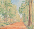 Texas:Early Texas Art - Regionalists, DON ADAIR BROWN (American, 1899-1958). Macedonia Road, MarshallTexas, 1925. Oil on canvas. 17 x 20 inches (43.2 x 50.8 ...