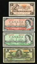 Canadian Currency: , Oh, Canada.. ... (Total: 4 notes)