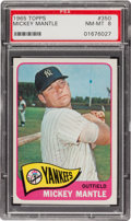 Baseball Cards:Singles (1960-1969), 1965 Topps Mickey Mantle #350 PSA NM-MT 8....