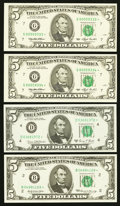 Small Size:Federal Reserve Notes, Star Collector.. ... (Total: 4 notes)
