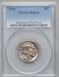 Buffalo Nickels: , 1916 5C MS64+ PCGS. PCGS Population (987/661). NGC Census:(728/395). Mintage: 63,498,064. Numismedia Wsl. Price for proble...