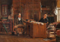 Fine Art - Painting, American:Antique  (Pre 1900), EDWARD LAMSON HENRY (American, 1841-1919). A Country Lawyer,1895. Oil on canvas. 15-1/2 x 22 inches (39.4 x 55.9 cm). S...