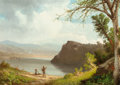 Fine Art - Painting, American:Antique  (Pre 1900), JOHN WILLIAMSON (American, 1826-1885). View of the River,1878. Oil on canvas. 12 x 17 inches (30.5 x 43.2 cm). Initiale...