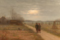 Paintings, SAMUEL S. CARR (American, 1837-1908). After School. Oil on canvas. 12 x 18 inches (30.5 x 45.7 cm). Signed lower left: ...