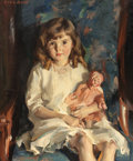 Fine Art - Painting, American:Modern  (1900 1949)  , LOUIS BETTS (American, 1873-1961). Portrait of Gertrude,1926. Oil on canvas. 30 x 25 inches (76.2 x 63.5 cm). Signed up...